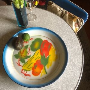 Vintage Hand Painted Veggie Tray